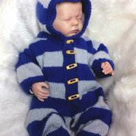All-in-One Hooded Romper 0-3 months
