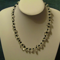 Glacier Necklace with Black beads