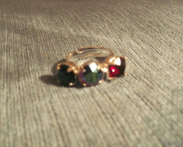 Adjustable Swarovski Crystal Ring