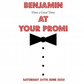 "Handmade 6"" Square Personalised Prom Card - Male"