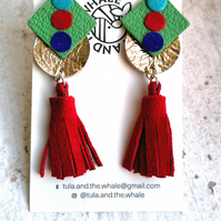 Allsorts with Tassels - Green & Red