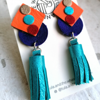 Allsorts with Tassels - Turquoise & Orange