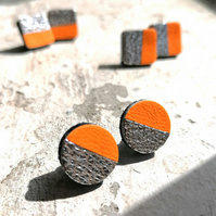 Neon orange Chunky Studs