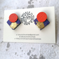 Statement Studs - Purple & Orange