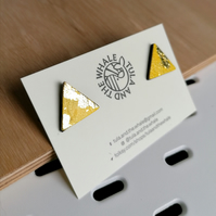 Mini Mountain Leather Studs - Gold Leaf & Yellow