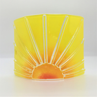 Sunrise curved glass panel