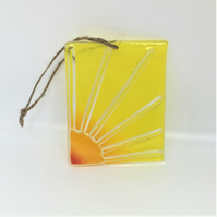 Sunrise glass suncatcher