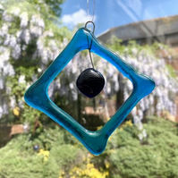 Beaded square suncatcher