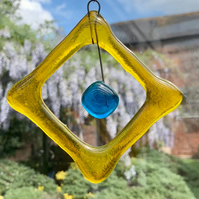 Unique beaded square suncatcher