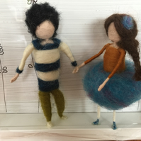 Stokla Doll Lovely couple in the Lavender field, Wedding gift