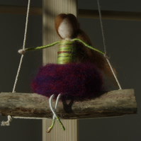 Stokla Doll Lovely girl who is watching the Oceans waves... needle felting, gift