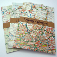 Upcycled Map Envelopes