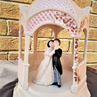 Bride & Groom Bandstand Hand Painted