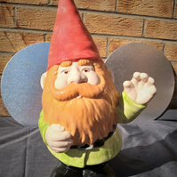 Large Garden Gnome Hand Painted