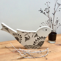 Bird decoration, free standing bird, bird Lovers gift