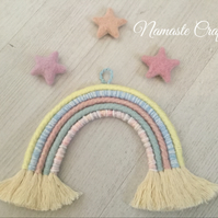 Rainbow Wall Hanging , Macrame Wall Art, Boho, Nursery Decor, Baby Shower Gift,