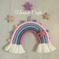 Rainbow Wall Hanging, Baby Shower Gift, Nursery Wall Decor, Macrame Decor
