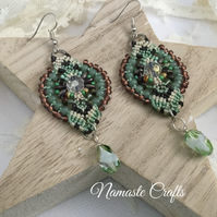 Elegant Dangle Macrame Earrings, Boho, chic, hippy, elegant, summer, holiday