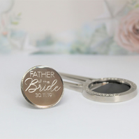 Father Of The Bride Engraved Pitch Repairer and Ball Marker