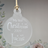 Engraved Baby's 1st Christmas Ornament