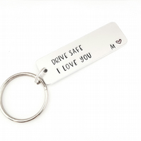 Passed Driving Test, Hand Stamped Drive safe I love you keyring