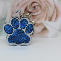 Engraved pet ID charm, Paw Shaped ID tag, Cat ID, Dog ID