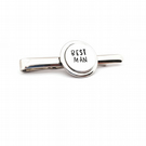 Hand Stamped Best Man Tie Pin, Wedding Tie Pin.