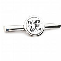 Hand Stamped Father of the Groom Tie Pin, Wedding Tie Pin.