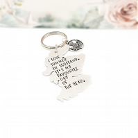 Scotland keyring, Scottish thistle keyring, Hand stamped Scottish keyring