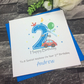 2nd Birthday Card - Personalise Handmade - Son, Grandson, Brother, Nephew