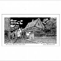 Digital print of my original handprinted linocut 'Britons Arms, Norwich'