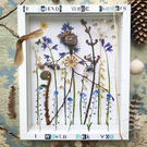 The joy of spring and friendship in a box. Pressed spring flowers...