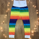 Rainbow stripe leggings