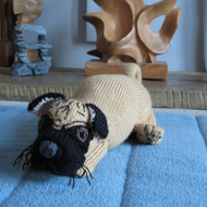 Pug Hand Knitted - Folksy