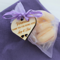 Wedding Favour, Thank You Message, Personalised, Engraved & Cut, Wooden Heart