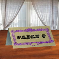 Aluminium wedding table number or name