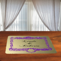 Aluminium wedding table coaster