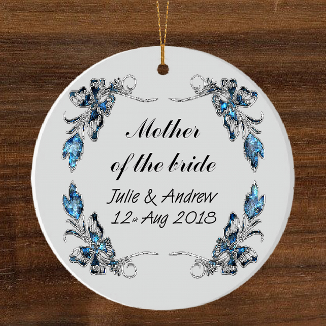 Ceramic hanging ornament, Mother of bride gift