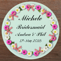 Glass coaster, Bridesmaid gift