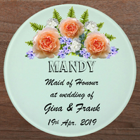 Glass coaster, Maid of honour gift