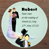 Glass coaster, Best man gift, Father of bride gift, Father of groom gift