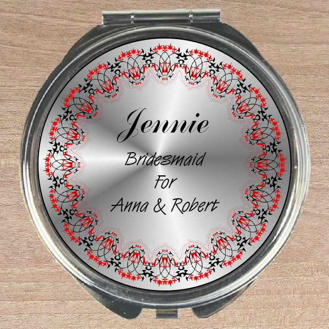 Compact mirror, bridesmaid gift