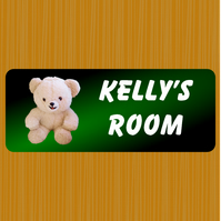 Bedroom door sign, Sign for kids, Aluminium indoor sign,
