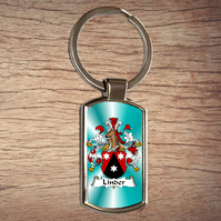Coat of arms, Family crest, Metal keyring, Keyfob