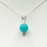 Amazonite Sterling Silver Swirl Necklace