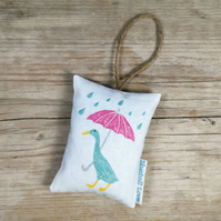 Duck lavender bag filled with organic lavender