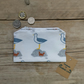 Seagull Fabric purse, Small coin seaside purse, Seagull gift