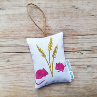 Mice lavender bag filled with organic lavender
