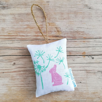 Rabbit lavender bag filled with organic lavender