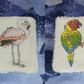 Flamingo and Parrot Eco Face wipe Set